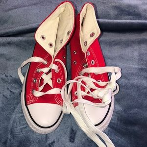Size 9 Red High Top Sneakers